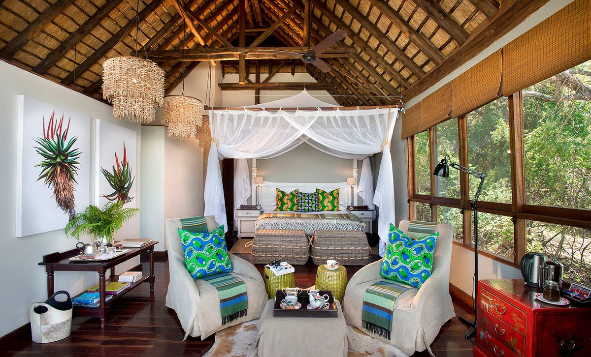 Interior of guest suite at Royal Chundu River Lodge