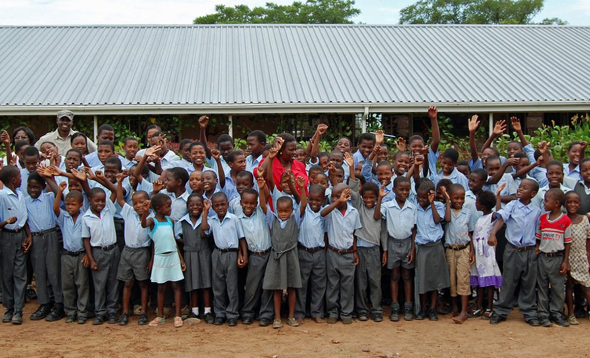 Village visit to school kids, Muchenje Lodge, Botswana