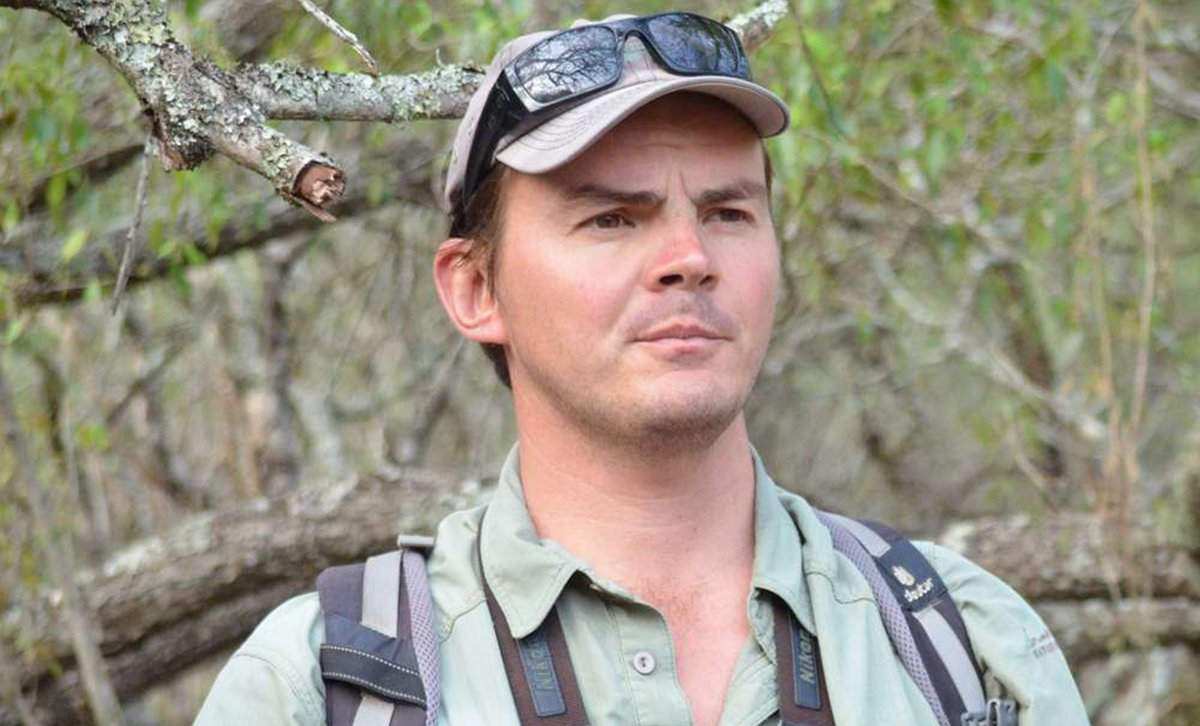 Close up shot of African safari guide Rob Janisch