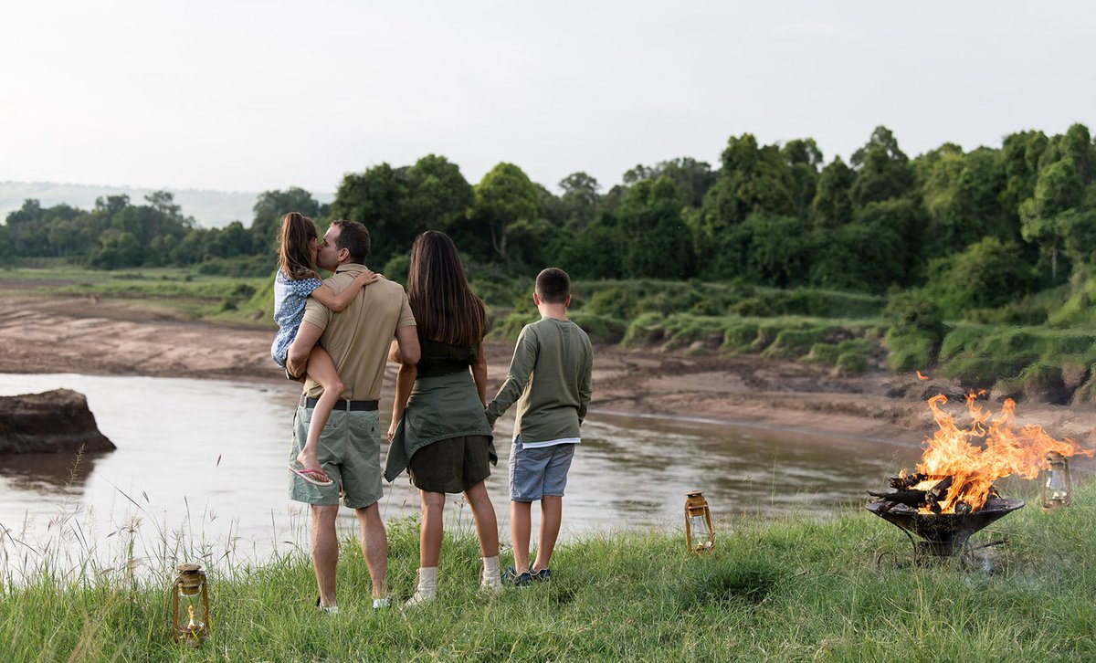 Family sundowners at Governor's Camp in the Masai Mara