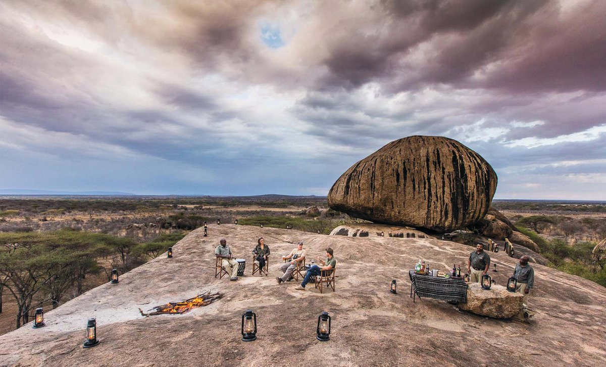 Sundowners-on-the-rock-Mbono-Tented-Camp