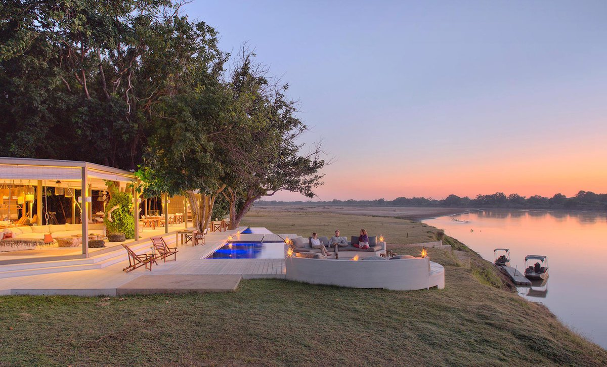 Riverside Boma on the Luangwa River at Chinzombo Camp