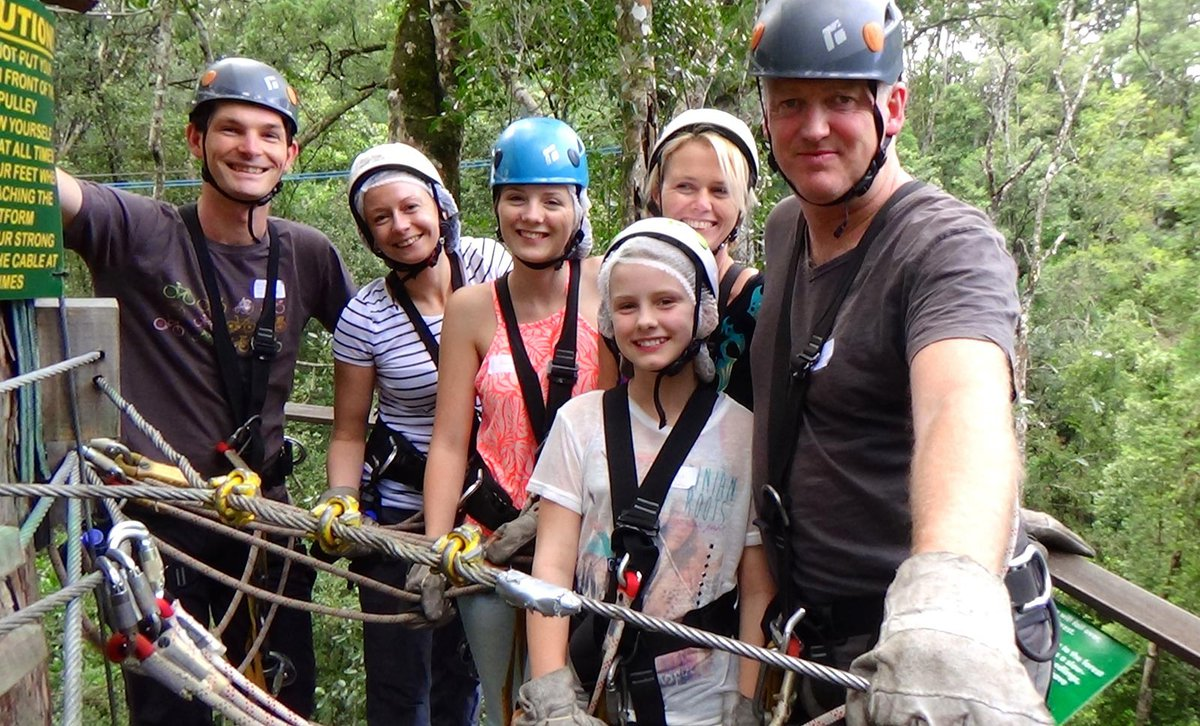 Family zipline excursion in Tsitsikamma Forest