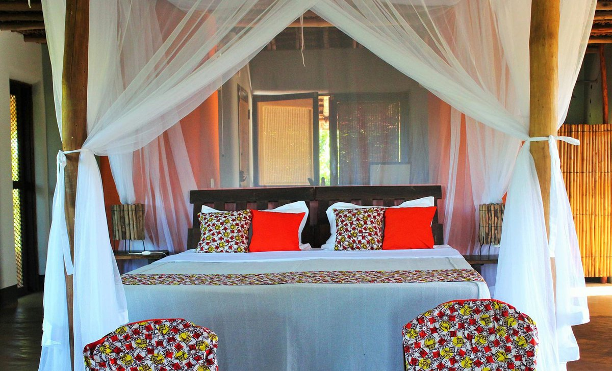 Bedroom at Nuarro Lodge, Mozambique.