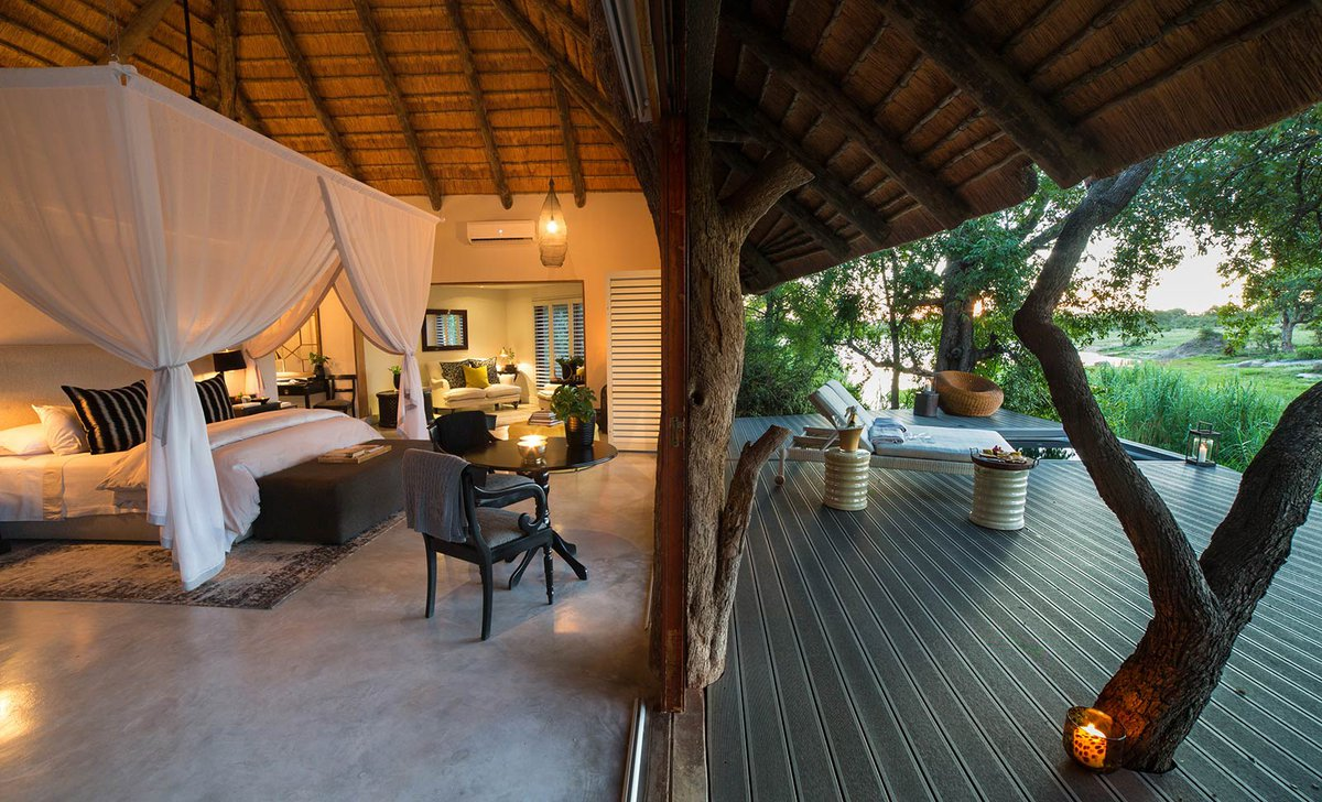 Suite and deck, Chitwa Chitwa, Greater Kruger Region, South Africa.