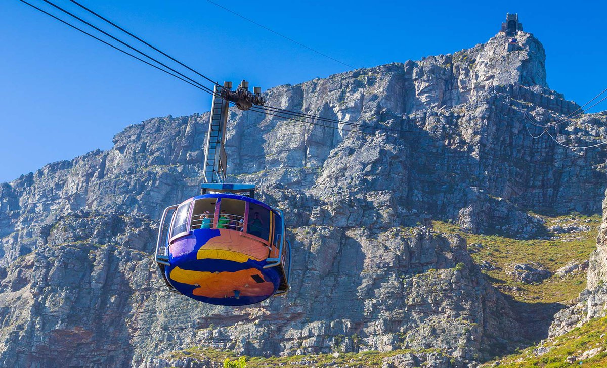 Cable car ascent to Table Mountain