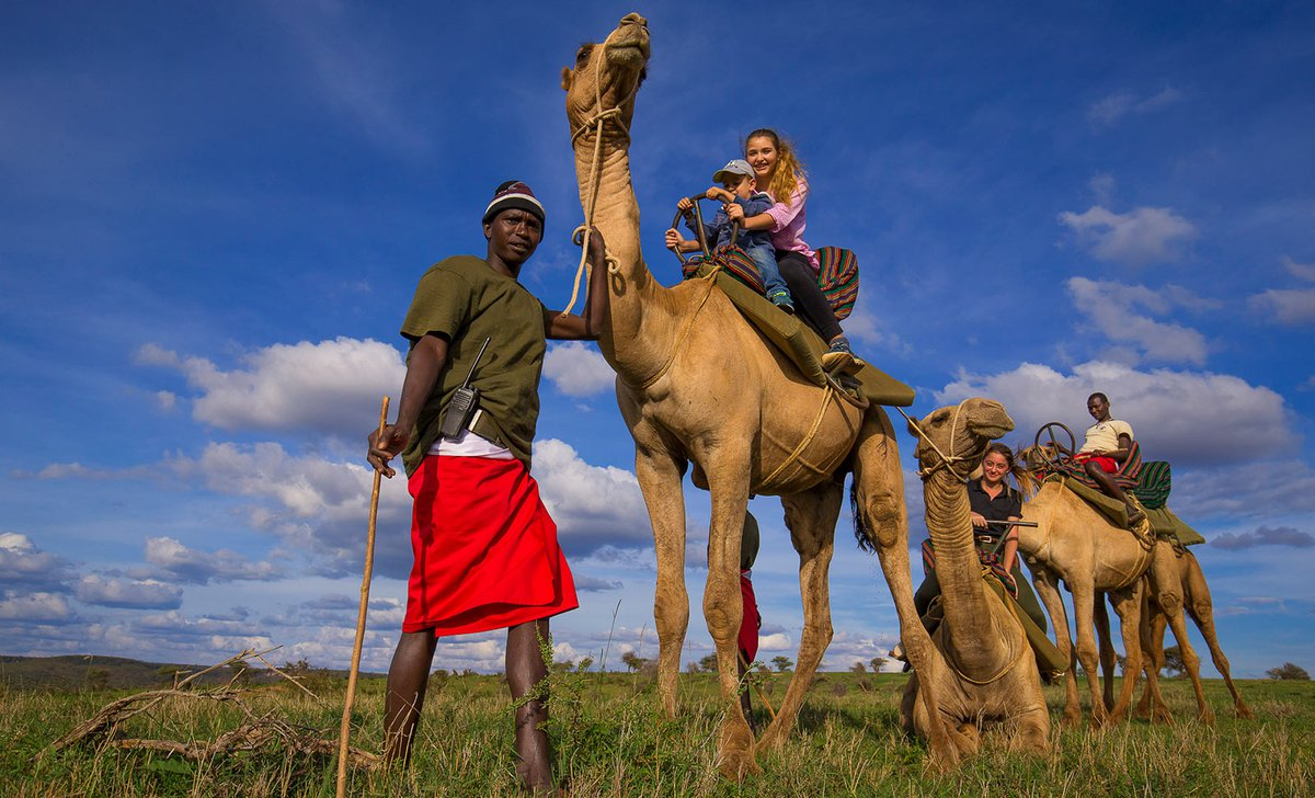 Family camel safari in Laikipia