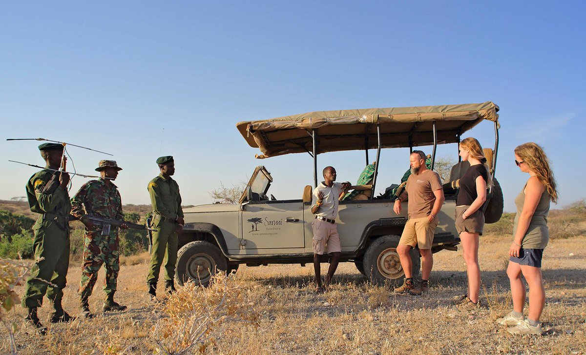 Rhino tracking conservation briefing with anti-poaching rangers