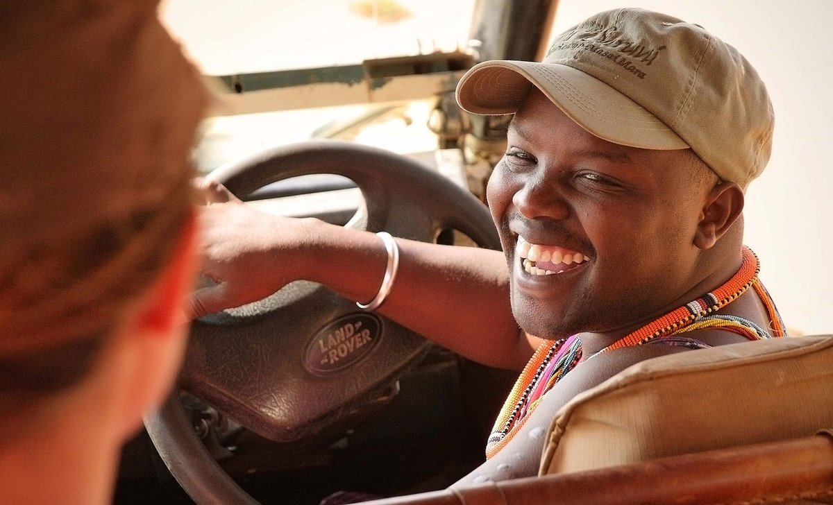 Maasai safari guide smiling