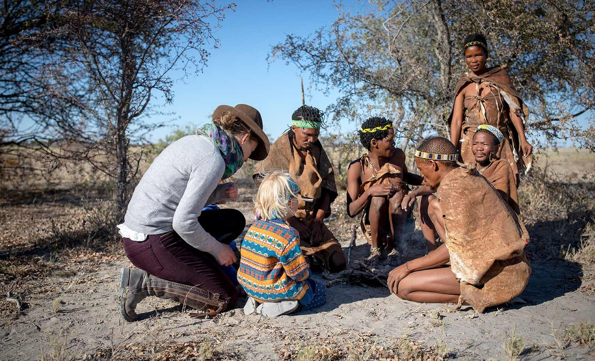 Woman and child with bushmen