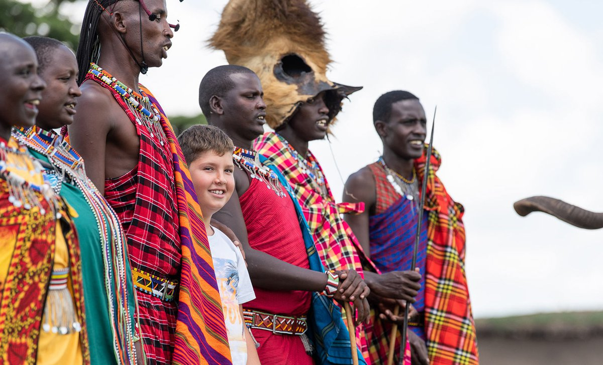 Boy learning about Maasai ceremony