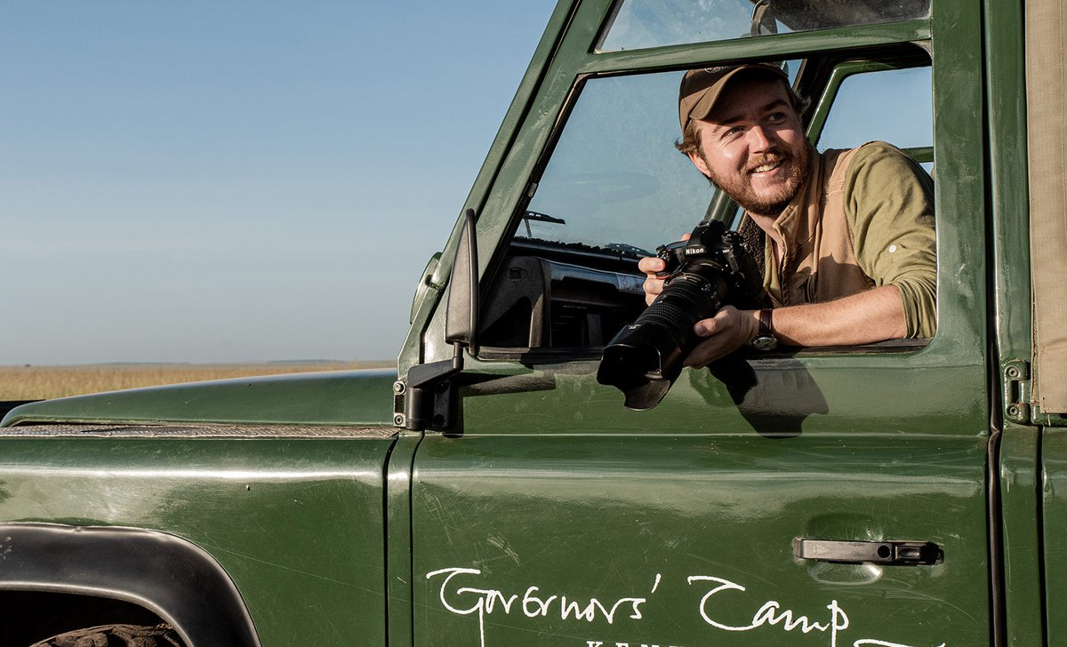 Photographic guide on game drive in Kenya