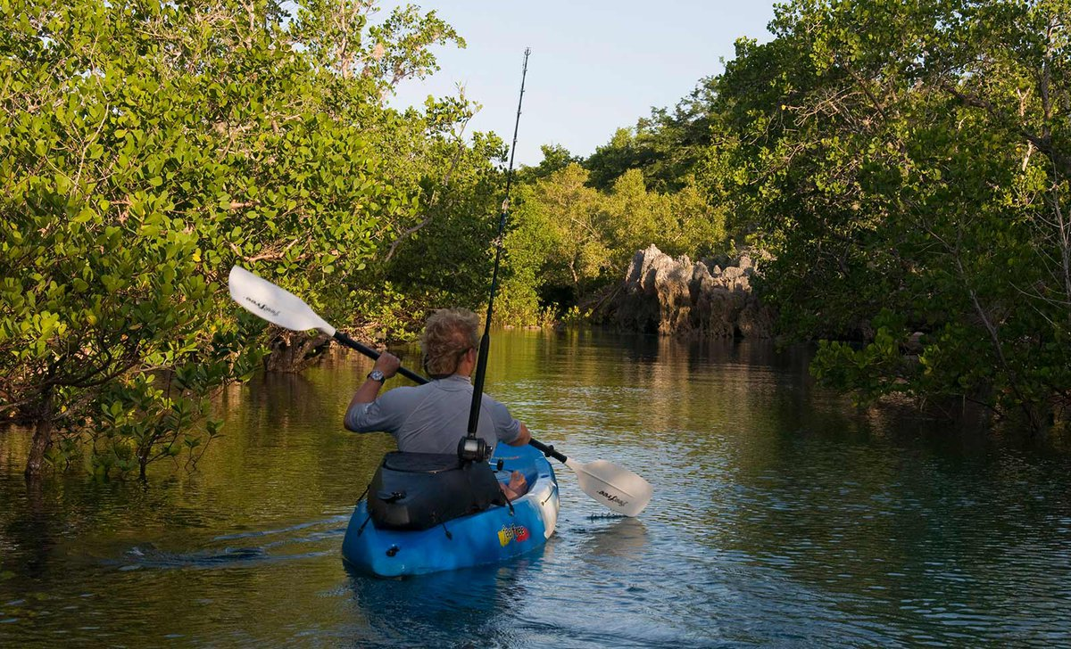 Kayaking at Nuarro Lodge, Mozambique.