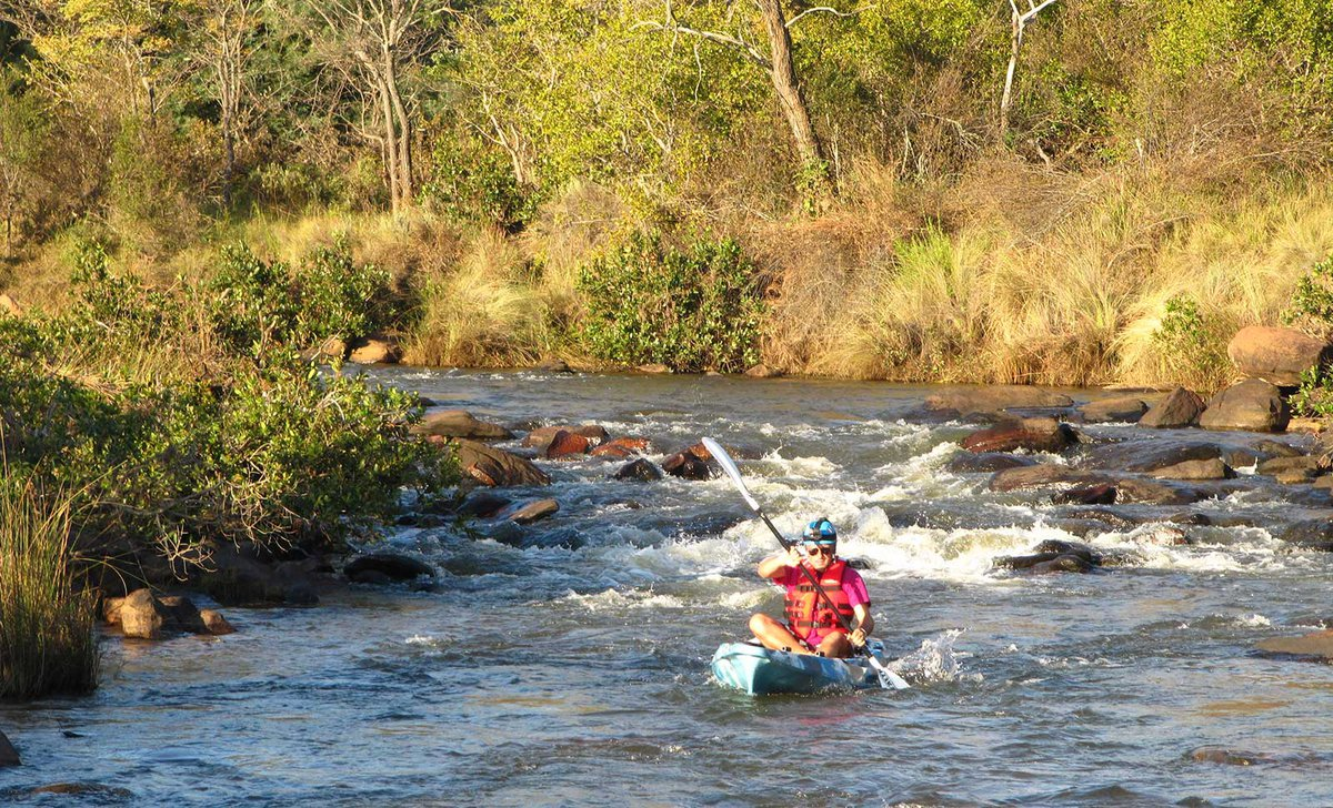Kayaking on river safari at Leobo