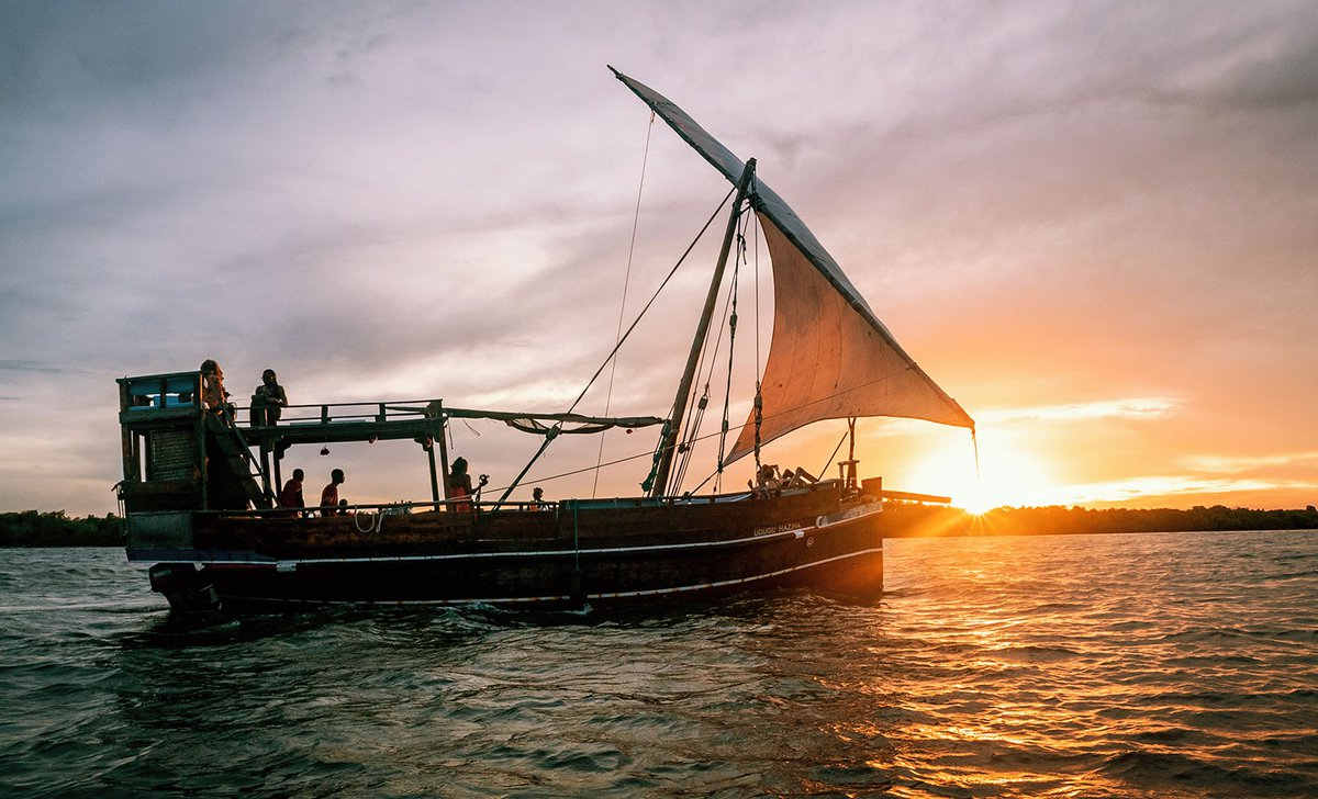 Dhow sailing cruise at sunset.