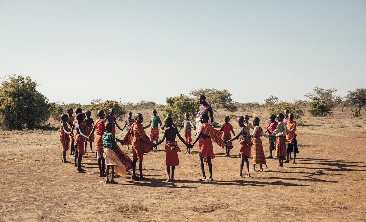 Samburu traditional tribal circle dance