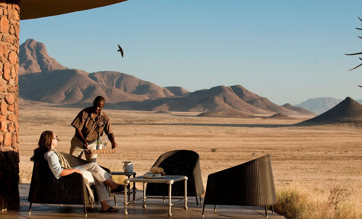 Personal service at Sossusvlei Desert Lodge, Namibia.