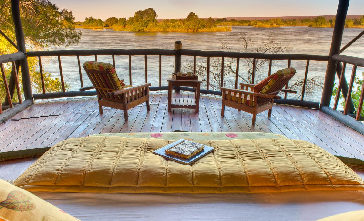 Room with view at Islands of Siankaba, Zambia.