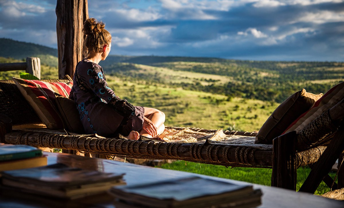 Woman at Borana Lodge surveying the scenery